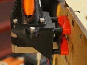 Flex3Drive to Ultimaker Original motor mount slots adapter (inofficial)