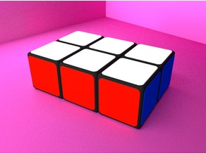 1x2x3 Rubik's Cube v2 (with sliding caps)