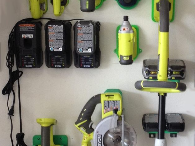 Ryobi 18v Tool Holders By Barty3d Thingiverse
