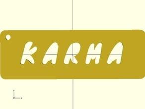 Karma engraved KeyChain