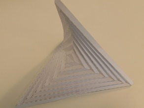 Origami Parabolic Shape from a paper square
