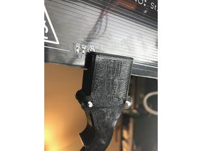 Anet E12: Cable strain relief for heated bed (improved)