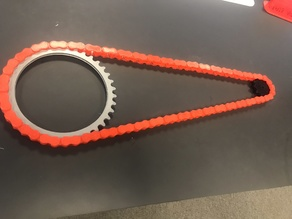 420 roller chain. Modular, with chain lock and sprockets