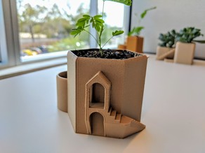 Tower Water Tank Planter Pot