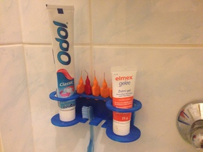 double paste toothbrush holder