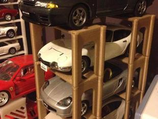 1:18 Scale Model Car Stackable Rack