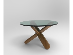 Coffe table parametric model with customizable dimensions. STL model for demo