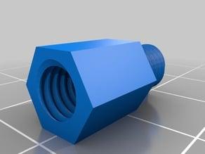 Hex Standoff 10, 20, 30, 40, 50, 60, 70, 80, 90, 100 mm; M6 Pin M6x6