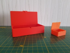 Hinge box with a premounted lid (Print at once)