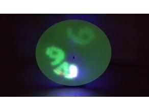UV Glow Clock - it spins!