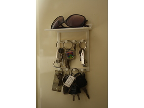 Key Holder (8) with Shelf