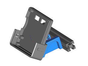 Improved Full Graphic LCD Case and Dock - RepRap Discount Cradle Mount (REMIX) 2020 Angled Mount (with STEP file)