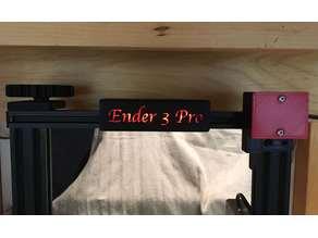 Ender3 / 3 Pro Light Name Plates