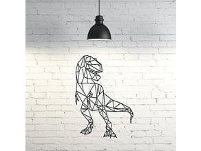 T-Rex Wall Sculpture 2D