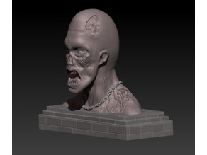 Zombie Bust Printing Gaming Miniature | Assembly