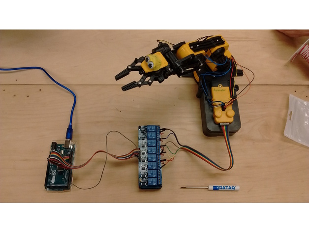 Control owi robotic arm edge with arduino by