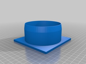 Small print-bed 4 inch dust port and blast gate spacer