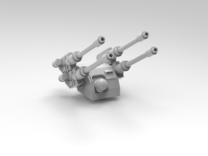 Heavy Hydra air defense turret with posable radar