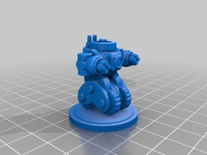 Wheeled Anime BattleMech 15mm #pocket-tactics #multiverse