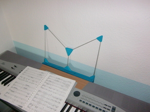 Customizable music stand for keyboard / stage piano