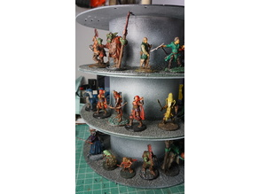 Rotary display stand for Miniatures Dungeons and Dragons from filament spools