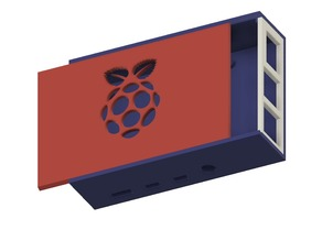 Sliding Lid Case for Raspberry Pi 4B