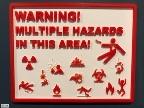 Multiple Hazards Sign