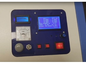 K40 Analog Custom Control Panel For Cohesion3D GLCD