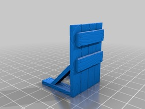 Wooden Barricade for 28mm tabletop