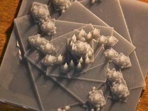 3D Spiral Shaped IFS Affine Fractal