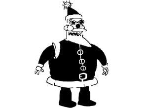 Futurama Robot Santa stencil