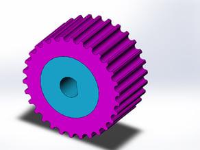 Grippy Knob for 5mm Diameter stepper motor shaft