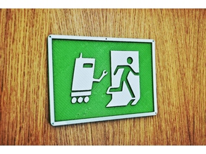 Angry Robot Emergency Exit Sign