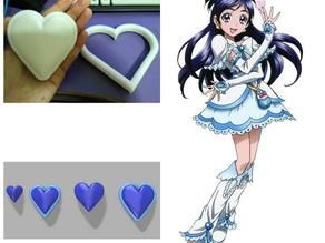 Pretty Cure White's Heart Accessories
