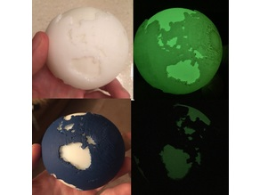 Glow in the dark continents Globe
