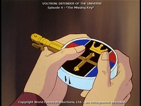 LIon key from Voltron: Defender of the Universe