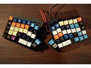 Split Ortholinear mechanical keyboard (with oled) case