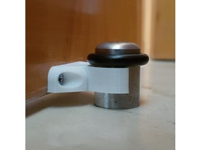 Hinged doorstop clamp