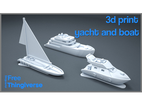 architectural model - yacht and boat