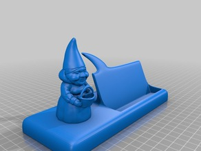 female gnome sayin business card holder