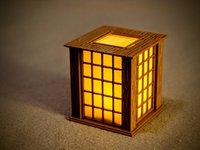 Japanese Paper Wall Lantern Christmas Ornament