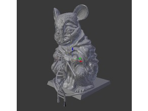 Mouse Statue - Monument to Lab-Mice - Overhang