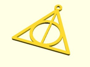Parametric Harry Potter Deathly Hallows Sign