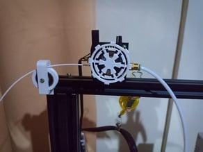 Ender 3 Filament Roller Guide From Bottom