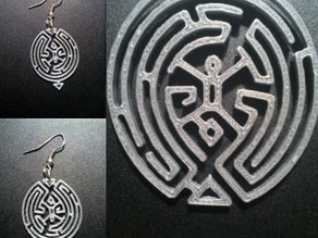 westworld maze earring pendant cookie cutter