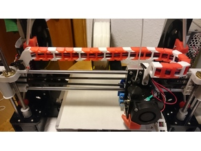 Anet A8 lightweight and unobtrusive X-axis cable chain