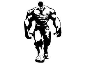 The incredible Hulk stencil
