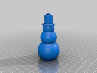 Printable Snowman Ornament