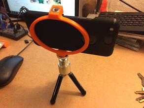 Single print smart phone tripod bracket