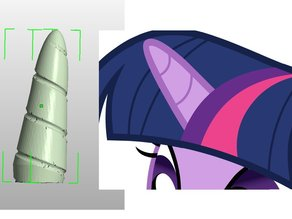 Cosplay Unicorn Horn (inspired by My Little Pony)
